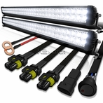72-LED Combo Beam Off-Road Work Fog Lamps + Wiring Kit (2 Pieces)