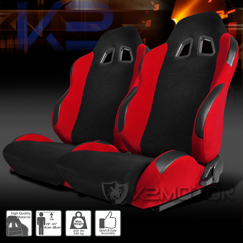 A Pair Of Bride Style Reclinable Racing Seats Sliders ...