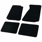 Black Carpet Floor Mats with Red Stitching