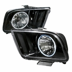 Black CCFL Halo Euro Headlights