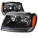 Black Crystal Euro Headlights