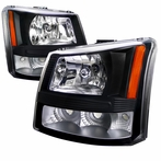 Black Crystal Headlights + Bumper Lights (1PC)