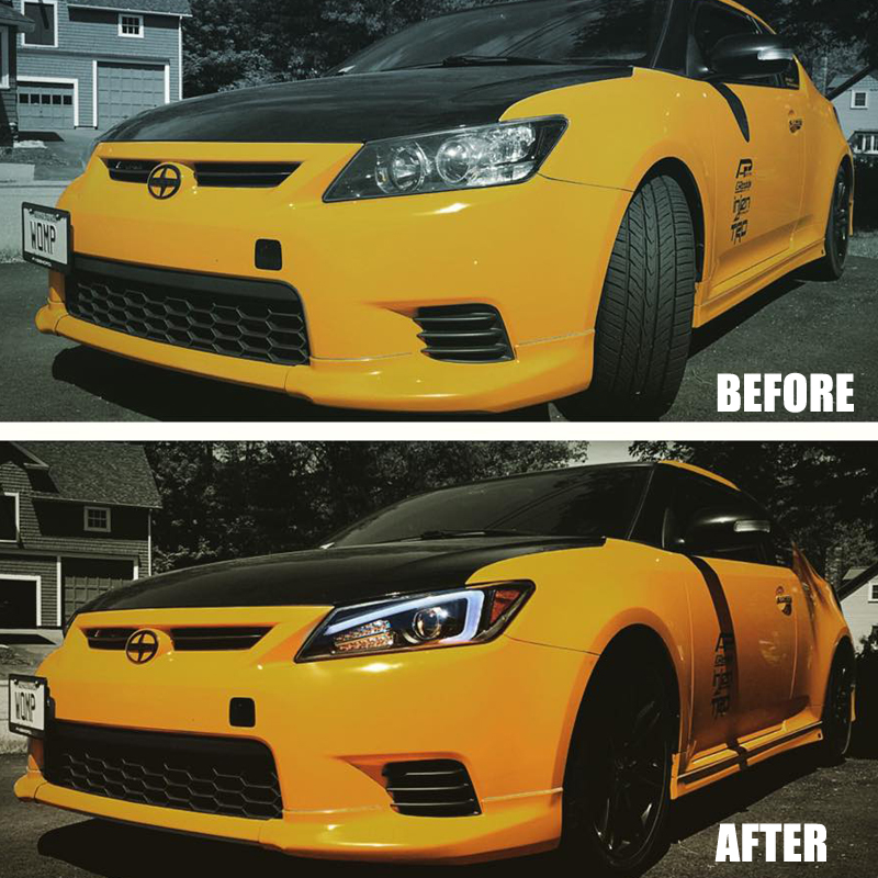 11 13 scion tc drl led projector headlights w led turn. Black Bedroom Furniture Sets. Home Design Ideas
