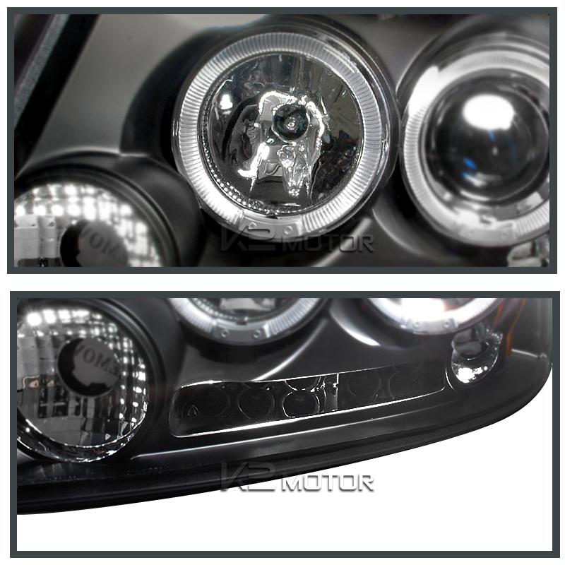 04-08 Ford F150 Dual Halo LED Projector Headlights - Black