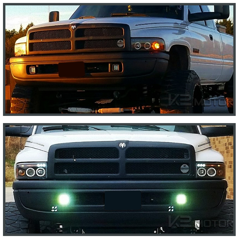 Black Halo Led Projector Headlights Inset 6