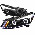 Black Halo SMD LED Projector Headlights