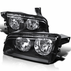 Black Housing Headlights