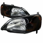 Black JDM Diamond Headlights