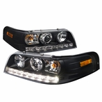 Black LED Projector Headlight