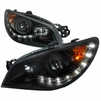 Black LED Projector Headlights