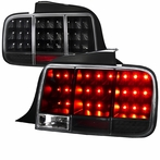 Black LED Sequential Tail Lights