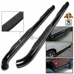 Black Stainless Steel Side Step Bars