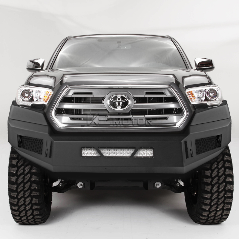 2016 2018 toyota tacoma black steel front bumper guards. Black Bedroom Furniture Sets. Home Design Ideas
