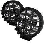 "Black Universal Round Work Fog Lamps (6"")"