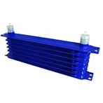 Blue Engine Tranny Oil Cooler