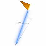 Blue LED Off-Road Triangle + Square Flags