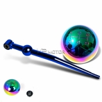 Blue Short Shifter + Neo Chrome 5-Speed Shift Knob
