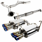 Burnt Tip Catback Quad Exhaust System