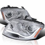 Chorme LED DRL Projector Headlights