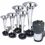 Chrome Air Horn x5 with Compressor