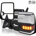 Chrome Cover LED Towing Mirrors (Power)