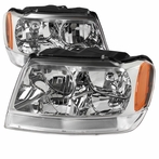 Chrome Crystal Euro Headlights