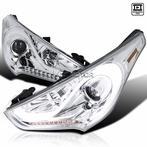 Chrome Sequential DRL LED Projector Headlights