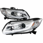 Chrome DRL Rope LED Projector Headlights