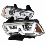 Chrome Dual Halo LED Projector Headlights
