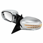 Chrome Fold Mirrors with Turn Signals + Puddle Lights (Power)