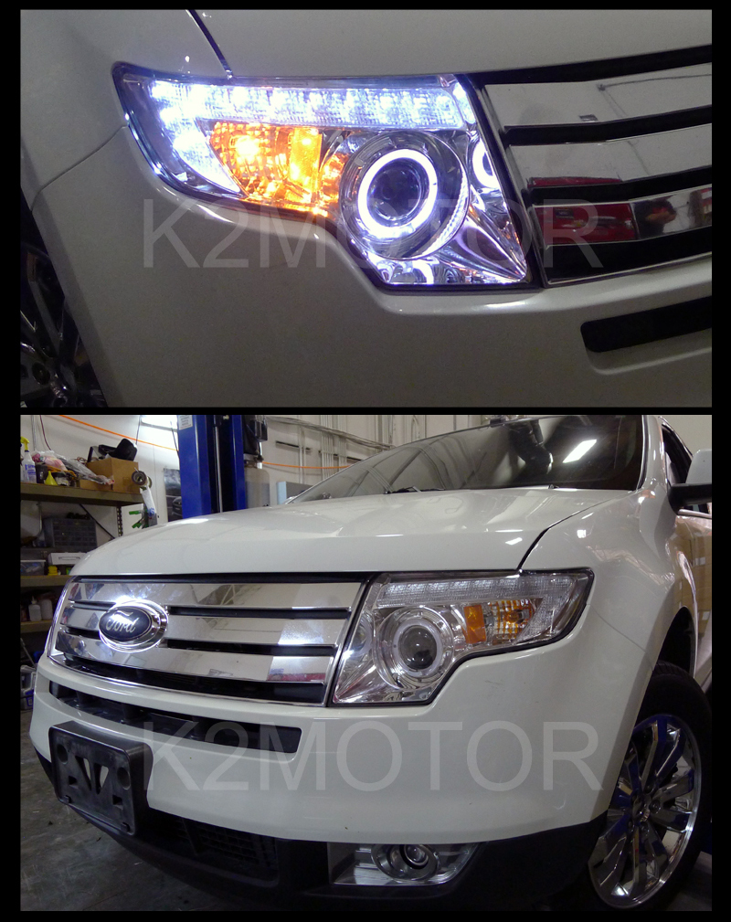 Chrome Halo Led Projector Headlights Inset