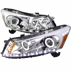 Chrome Halo SMD LED Projector Headlights