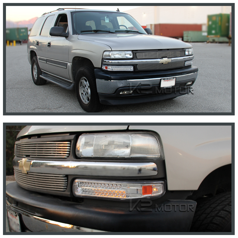 1999 2002 chevy silverado 2000 2006 chevy tahoe suburban chrome led bumper lights