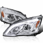 Chrome LED DRL Projector Headlights