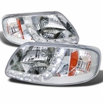 Chrome LED Euro Headlights 1PC