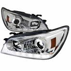 Chrome LED Projector Headlights