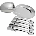Chrome Mirror Covers + Door Handle