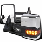 Chrome Powered LED Towing Mirror with Heat Function