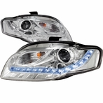 Chrome R8 Style LED Projector Headlights