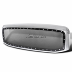 Chrome Rivet Style Mesh Grille + Shell