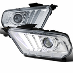 Chrome Sequential LED Projector Headlights