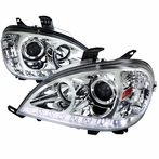 Chrome SMD LED Projector Headlights
