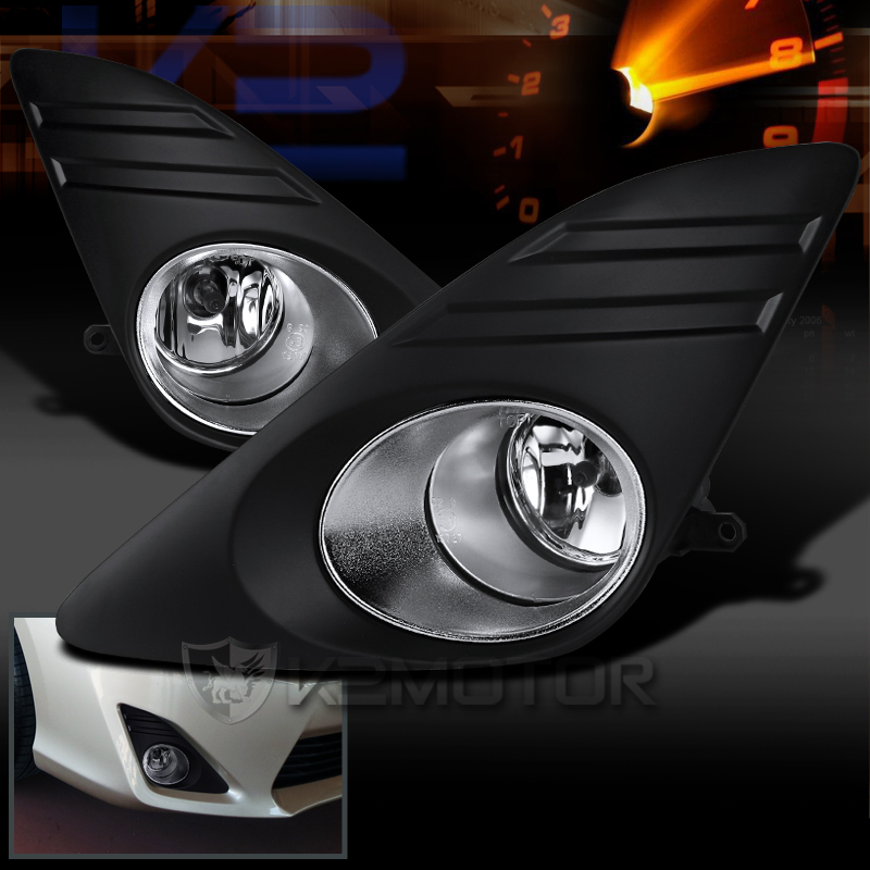 2012 2014 toyota camry clear fog lights kit. Black Bedroom Furniture Sets. Home Design Ideas