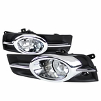 Clear Fog Lights with Chrome Trim