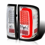 Clear LED Bar Tail Lights