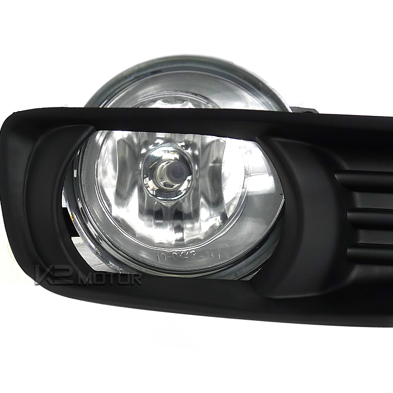 07 09 toyota camry oem style fog lights kit clear. Black Bedroom Furniture Sets. Home Design Ideas