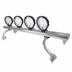 COMBO: Adjustable Aluminum Roof Light Bar + 2 Pairs of 6-LED Work Lights