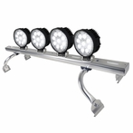 COMBO: Adjustable Aluminum Roof Light Bar + 2 Pairs of 9-LED Work Lights