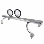 COMBO: Adjustable Aluminum Roof Light Bar + Pair of 6-LED Work Lights