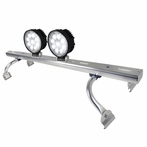 COMBO: Adjustable Aluminum Roof Light Bar + Pair of 9-LED Work Lights